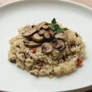 Rissoto de champignones y vegetales
