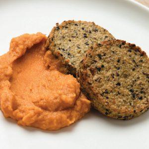 Hamburguesas de quinoa con pure de calabaza