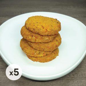 pack 5 hamburguesas de arroz yamani y calabaza