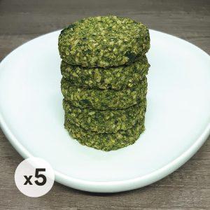 pack 5 hamburguesas de arroz yamani y espinaca
