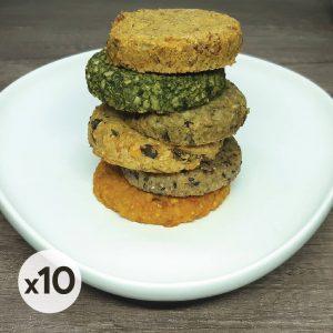 Pack 10 surtido de hamburguesas vegetarianas
